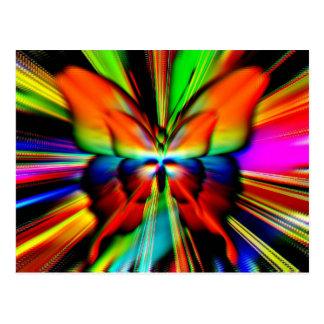 Carte Postale Fractale psychédélique de papillon
