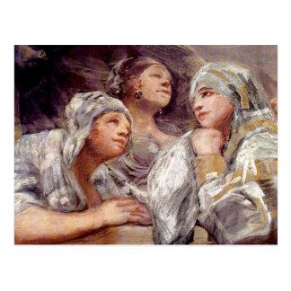 Carte Postale Francisco de Goya - spectateurs