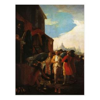 Carte Postale Francisco Goya- la foire à Madrid