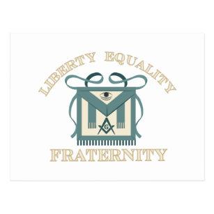 Carte Postale Fraternité d'égalité de liberté de tablier de