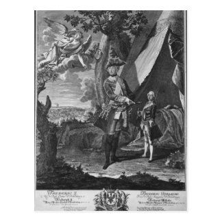 Carte Postale Frederick II et son neveu Frederick William