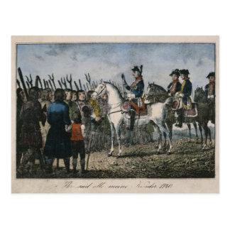 Carte Postale Frederick le grand avec les agriculteurs