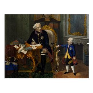Carte Postale Frederick le grand et son petit-neveu