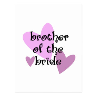 Carte Postale Frère de la jeune mariée