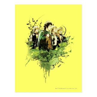 Carte Postale FRODO™ avec le collage de vecteur de Hobbits
