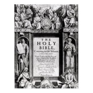 Carte Postale Frontispice 'au Bible saint