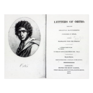 Carte Postale Frontispice 'aux lettres d'Ortis