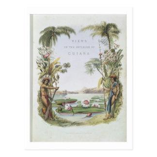 """Carte Postale Frontispice aux """"vues à l'intérieur de la Guyane"""","""