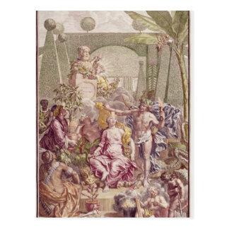"Carte Postale Frontispice de ""Hortus Cliffortianus"" par Karl"