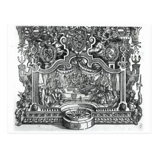 """Carte Postale Frontispice des """"désordres"""" par Roland de Lassus"""