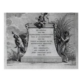 Carte Postale Frontispice pour six sonates par John