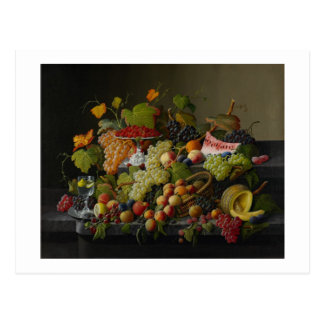 Carte Postale Fruit abondant, 1858 (huile sur la toile)