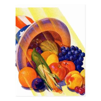 Carte Postale Fruit vintage d'Oncle Sam de kitsch d'art