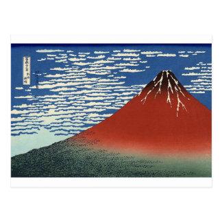 Carte Postale Fuji rouge de Katsushika Hokusai