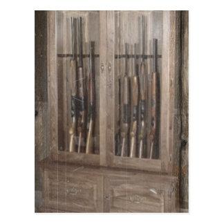 Carte Postale Fusils rustiques de Cabinet d'arme à feu d'arme à