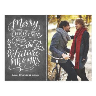 Carte Postale Futurs M. et Mme Photo Save The Date de Noël