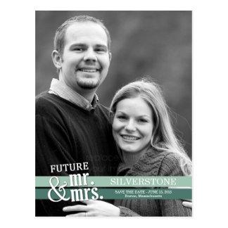 Carte Postale Futurs M. et Mme Wedding Save The Date - Basil