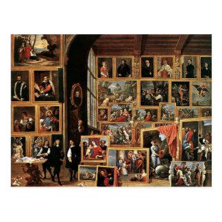 Carte Postale Galerie d'archiduc Leopold à Bruxelles, 1640