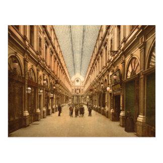 Carte Postale Galerie vintage de St Hubert de Bruxelles Belgique