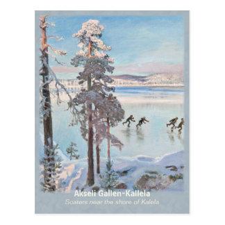 Carte Postale Gallen-Kallela Kalela Scaters Luistelijat CC0812
