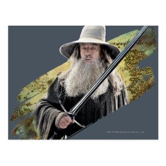 Carte Postale Gandalf avec le vert d'épée