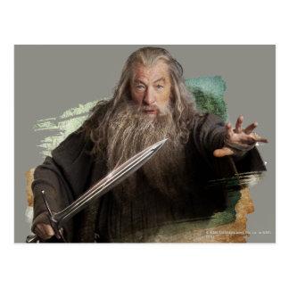 Carte Postale Gandalf avec l'épée