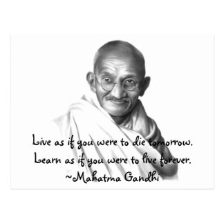 Carte Postale Gandhi