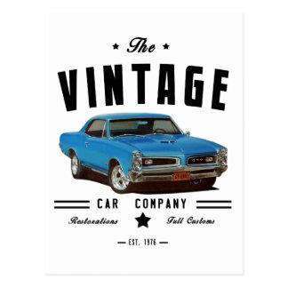 Carte Postale Garage 1966 de cru de Pontiac GTO
