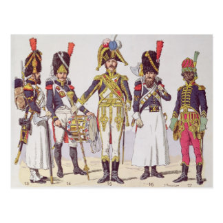 Carte Postale Gardes de grenadier du premier empire
