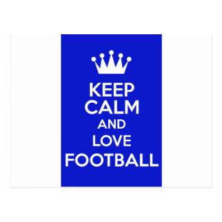 Carte Postale Gardez le calme et aimez le football