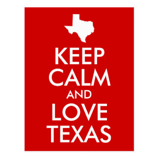 Carte Postale Gardez le calme et aimez le rouge du Texas