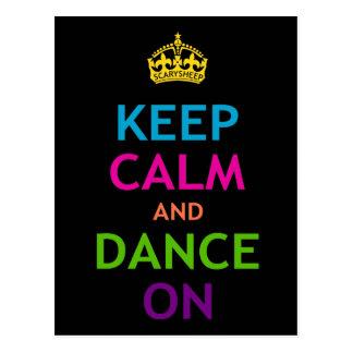 Carte Postale Gardez le calme et dansez dessus