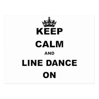 Carte Postale GARDEZ le CALME ET la LIGNE DANCE.png