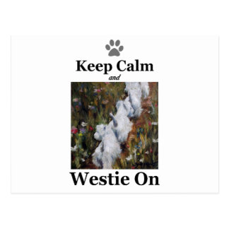 Carte Postale Gardez le calme et le Westie dessus, le terrier