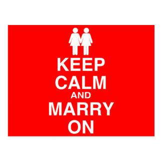 Carte Postale Gardez le calme et mariez dessus