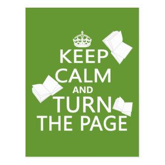 Carte Postale Gardez le calme et tournez la page
