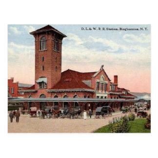 Carte Postale Gare de D.L.W., Binghamton, New York
