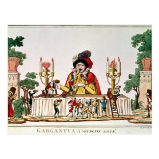 Carte Postale Gargantua à son petit dîner, c.1800