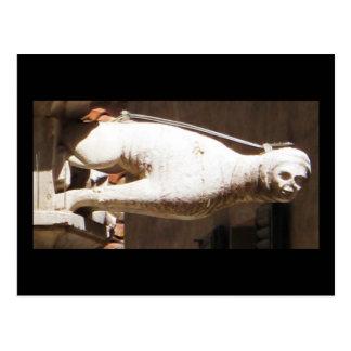 Carte Postale Gargouille de acroupissement - circa 1340