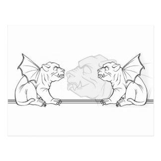 Carte Postale Gargouilles de maugrément