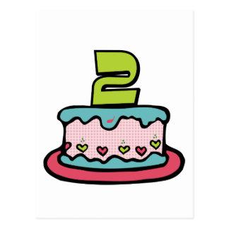 Carte Postale Gâteau d'anniversaire de 2 ans