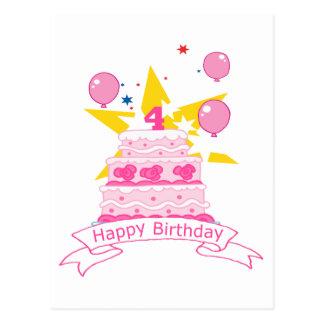 carte postale anniversaire 4 ans