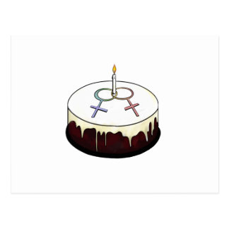 Carte Postale Gâteau d'anniversaire lesbien