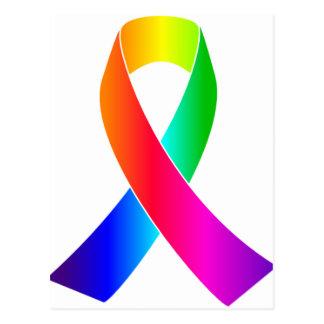 Carte Postale Gays et lesbiennes de conscience de ruban de