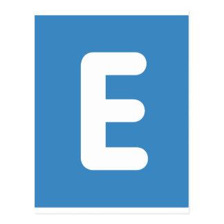 Carte Postale gazouillement d'emoji - lettre E