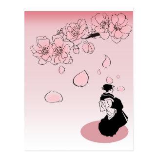Carte Postale Geisha japonais ver2