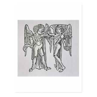 Carte Postale Gémeaux (les jumeaux) une illustration du 'Poeti