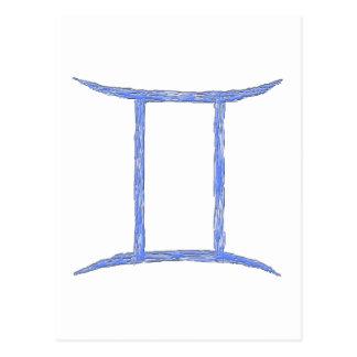 Carte Postale Gémeaux. Signe d'astrologie de zodiaque
