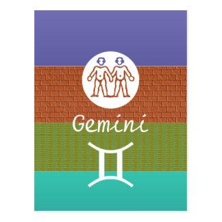Carte Postale GÉMEAUX - symbole de ZODIAQUE
