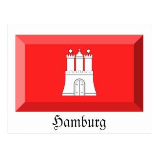 Carte Postale Gemme de drapeau de Hambourg